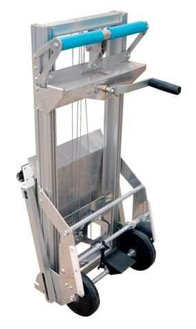 Aluminum Hand Truck - BPALL Series; Platform Size (W x L): 17'' x 14''; Service Range: 1'' to 61''; Load Center: 7''; Capacity (LBS): 200; Straddle Width: 17-1/2''