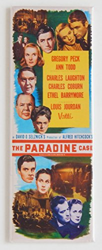 - The Paradine Case Movie Poster Fridge Magnet (1.5 x 4.5 inches)