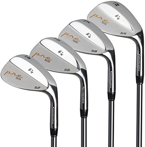 Pinemeadow Golf Men s Pre 4 Wedge Set, Right Hand, Steel, Regular, 52, 56, 60, 64