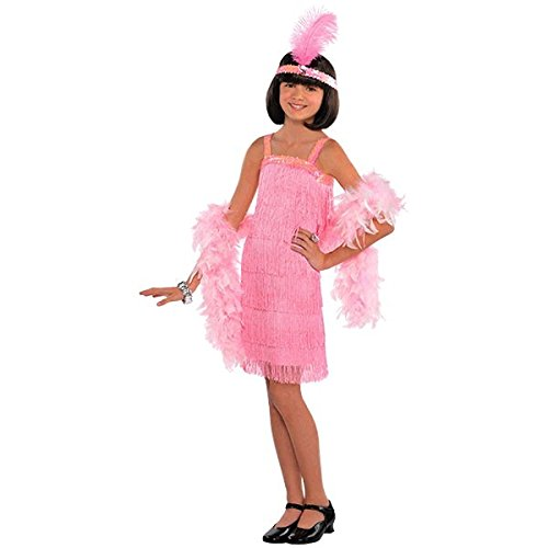 Little Miss Flapper Girl - Amscan Roaring 20's Cotton Candy Flapper Costume (2 Piece), Pink, 14.5
