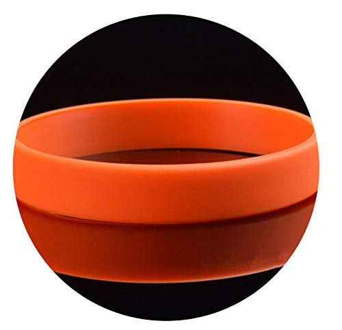 Ionian-store-sportinggoods 12 Colors Men Basketball Sports Wristbands Silicone Bracelets,orange12