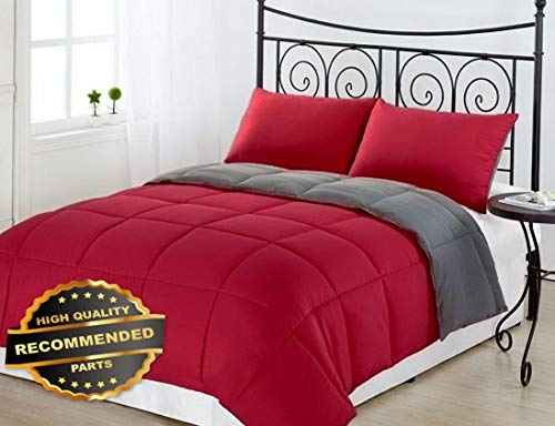 Werrox Goose Down Alternative Luxurious Reversible Comforter Full Queen and King | King Size | Quilt Style -