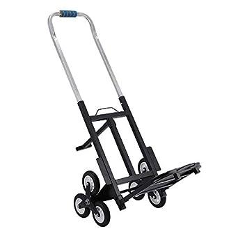Stair Climbing Cart Heavy Duty Aluminum Climber,6 Wheels Capacity Portable Hand Truck,All Terrain Heavy Duty Climbing Stair Trolley