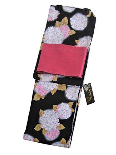 武器木材配るSweet Lily 浴衣2点セット ぼかし紫陽花柄お仕立て上がり浴衣+日本製浴衣帯