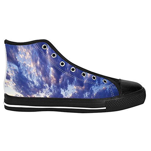 Dalliy Blaue Wolken Mens Canvas shoes Schuhe Lace-up High-top Sneakers Segeltuchschuhe Leinwand-Schuh-Turnschuhe C