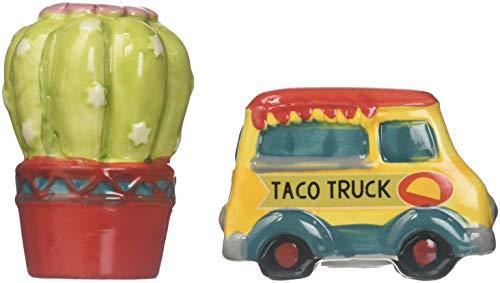 Boston Warehouse 34395 Taco Truck and Cactus Salt & Pepper Shaker Set