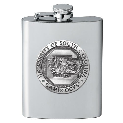 South Carolina Fighting Gamecocks 8 oz Stainless Steel Flask - NCAA College Athletics