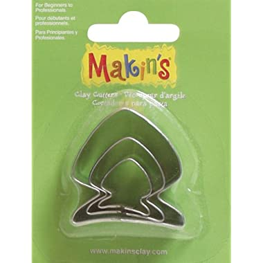 Makin's USA Clay Cutters, Fish, 3 Per Package