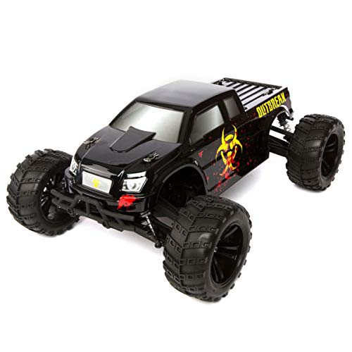 - Force RC 1/10 Outbreak 4WD Monster Truck RTR: Black