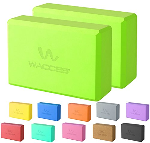"Wacces Foam Exercise, Fitness & Yoga Blocks - Set of 2 ( 9"" x 6"" x 3"" ) - Green"