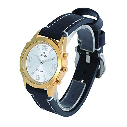 English Speaking Wristwatch with Leather Strap Only $29.99