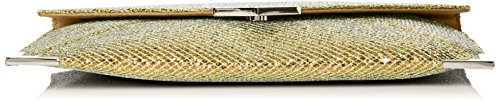 SwankySwansKorie Glitter Envelope Party Prom Clutch Bag - Sacchetto Donna Gold (Gold)