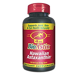 BioAstin Hawaiian Astaxanthin 12mg, 25 Count – Hawaiian Grown Premium Antioxidant – Supports Recovery from Exercise + Joint, Skin, Eye Health Naturally