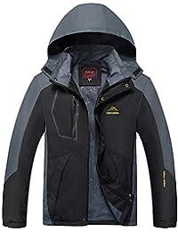 Mens Waterproof Jacket Raincoats Outdoor Hiking Windproof Travel Jackets