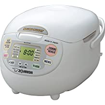 Zojirushi NS-ZCC18 10 cup Neuro Fuzzy Rice Cooker and Warmer In Premium White