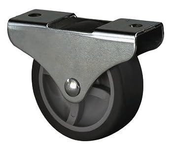 Anschraubpla tte 140 mm BSRollen Transportger/äte-Lenkrolle Durchm Gummi schwarz Traglast 115 kg Rollenlager