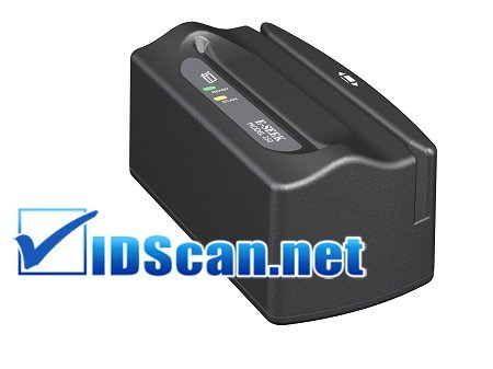 E-seek M250 ID scanner - barcode and magnetic strip reader w/USB cable by IDScan.net