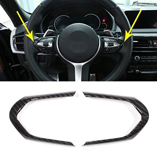 2pcs Steering Wheel Decorative Trim Car Steering Wheel Chrome Cover Frame for BMW F20 F22 F30 F32 F10 F06 F15 F16