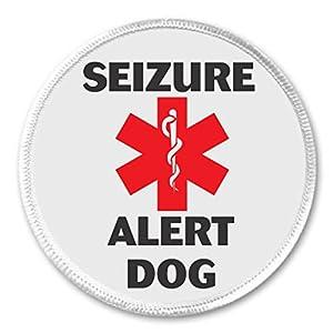 """Seizure Alert Dog SRD Medical Symbol 3"""" Sew On Patch Epilepsy Assistance Animal"""