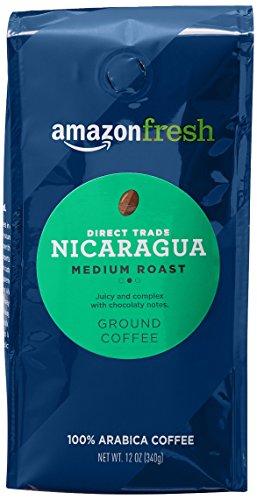 AmazonFresh Direct Trade Nicaragua Coffee, Medium Roast, Ground, 12 Ounce