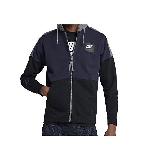 Nike Mens Air Full Zip Hoody Obsidian Blue/Gunsmoke/Black/White 886044-451 Size Medium ()