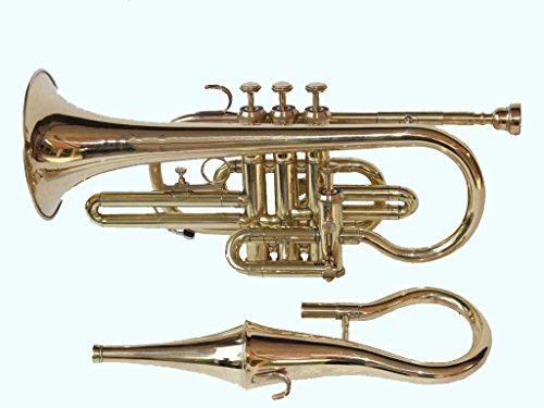 Global Art World Stylish And High Grade 4 Valve Cornet With Mute Bag Along With A Mouth Piece MI 070 by Global Art World