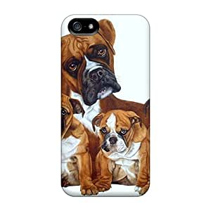 Angelerson Scratch-free Phone Case For Iphone 5/5s- Retail Packaging - Nice Dogs