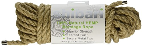 Shibari 100% Natural Hemp Rope, 10 Meters (32ft)