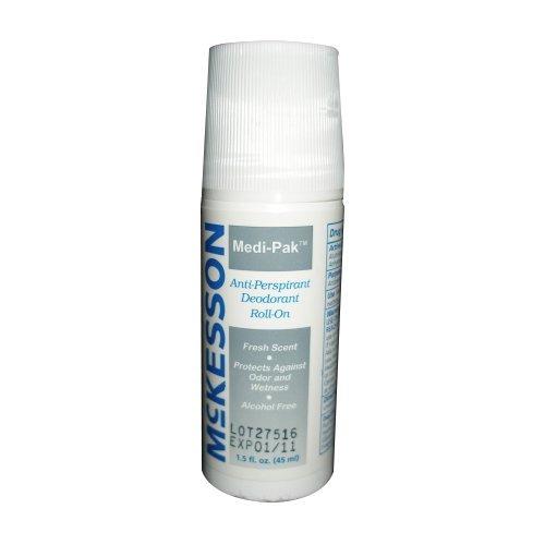 Case Deodorant Pack (Medi-Pak Roll-On Deodorant 1.5 Ounce Fresh Scent - Case of 96)
