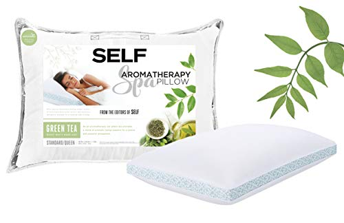 (SELF Down Alternative Aromatherapy Scented Spa Pillow (Green Tea/Chamomile))