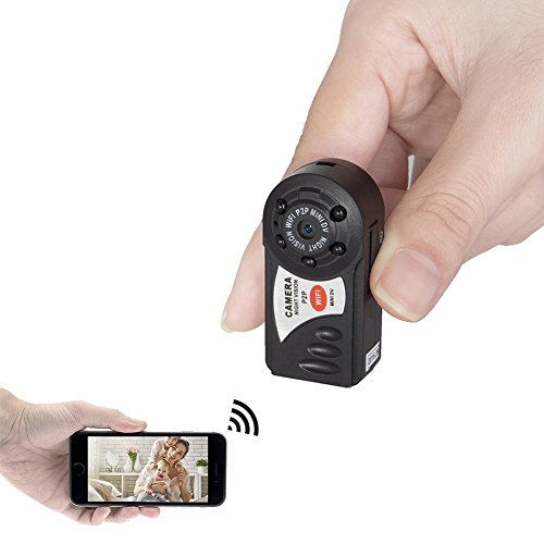 CAMXSW Mini Portable P2P WiFi IP Camera Hidden Spy Camera Indoor/Outdoor HD DV Video Recorder Security Support iPhone/Android Phone/ iPad /PC Remote