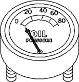 New Oil Pressure Gauge (80 LB) FAD9273A Fits FD 600