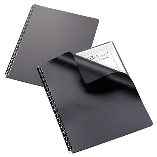 Office Depot(R) Poly Binding Covers, 8 3/4in. x 11 1/4in., Black, Pack Of 25