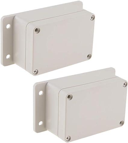 2x Cubierta De Protección De La Caja De Conexiones Exterior/Interior DIY Para Circuito/Portafusibles: Amazon.es: Coche y moto