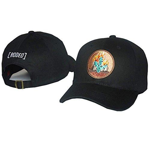 Scott Cap - IreDi Travis Scott Hat Cap Tour Merch Cactus Travis Strapback Snapback Dad Hats Black