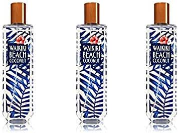 Bath & Body Works Fine Fragrance Mist Waikiki Beach Coconut 2017 - Lot of 3