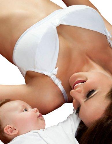 Lorna Drew Cotton Rose White Nursing Bra LD001