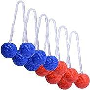 GoSports Ladder Toss Bolo Replacement Set - Kid Safe Soft Rubber or Hard Golf Balls