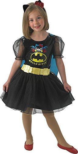 [DC Hello Kitty Batgirl - Childrens Fancy Dress Costume - Medium - 116cm] (Hello Kitty Child Costumes)