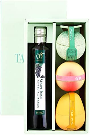 新宿高野 ジュース&ゼリーギフト 1JEB ( グレープジュース 1本 / フルーツゼリー 3種類 ) お祝い ギフト 贈答品 (箱入り)