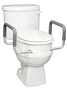 Amazon Com Carex Raised Toilet Seat With Handles For