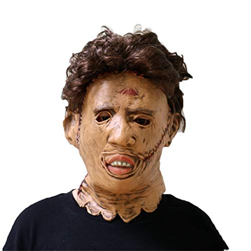 Masks for Adults Latex Head Mask,Texas Chainsaw Massacre Devil Masquerade Horror Bloody Zombie Ghost Creepy Halloween Fancy Dress Costume]()