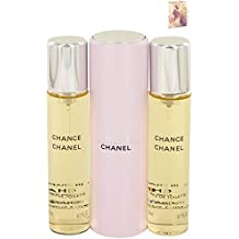 3e46656cb Chánêl Cháncê Perfume 3 x 0.7 oz Mini EDT Spray + 2 Refills For Women Free