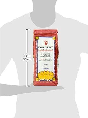 Puroast Low Acid Coffee Vanilla Flavored Coffee Whole Bean, 2.5 Pound Bag
