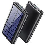 Pxwaxpy Solar Charger Power Bank, 33800mAh Portable