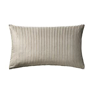 ikea luktnypon brown fabric stripe on gray throw cushion cover 16x26 home kitchen. Black Bedroom Furniture Sets. Home Design Ideas