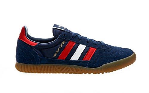 Adidas Herren Indoor Super Sneaker Verschiedene Farben (Azumis / Ftwbla / Rot)