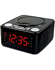 Boombox CD Player with Bluetooth, FM Radio, MP3 Playback, AUX Input, Headphone Jack, LED Display, and Dust Cover, Timing Music Alarm Clock (Color : Black, Size : No Bluetooth)