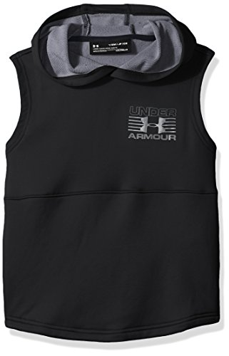 Under Armour Boys' Train to Game Sleeveless Hoodie,Black (001)/Graphite, Youth - Youth Sleeveless Under Armour