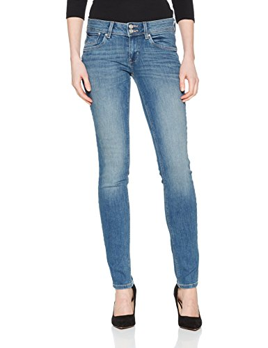 Wash 1051 Button Tom Tailor Stone Vaqueros Carrie Azul Double Denim Mujer para Light Slim qOqP6